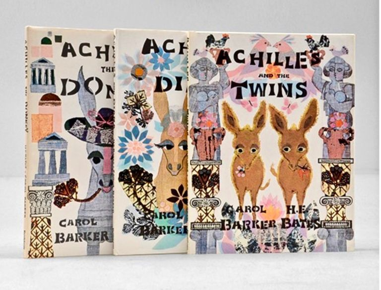 Achilles the Donkey; [together with] Achilles and Diana; [and with] Achilles and the Twins [All Signed]. H. E. BATES, Carol Barker, illustrates, Herbert Ernest.