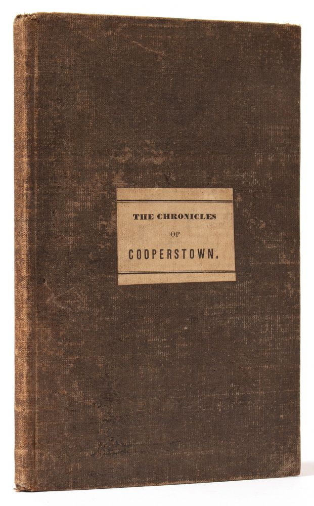 The Chronicles of Cooperstown. James Fenimore COOPER.