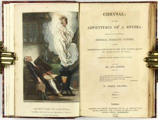 [Color Plate] Chrysal, or, The adventures of a guinea: wherein are exhibited views of several striking scenes : with interesting anecdotes of the most noted persons in every rank of life through whose hands it has passed, by an Adept [3 vols.]