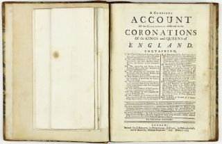 A complete account of the ceremonies observed in the coronations of the kings and queens of England. Containing, I.The form of the royal letters of summons, . . . XIII. A bill of fare at a former coronation-feast. With many other notable particulars, . . . The whole adorn'd with curious cuts, . . .