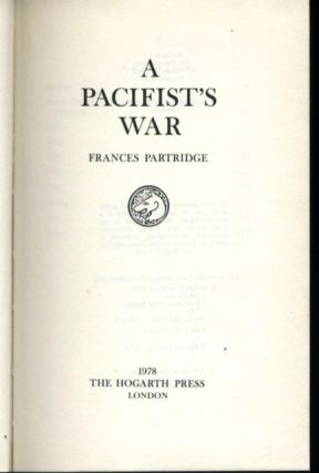 [Bloomsbury] Pacifist's War, A