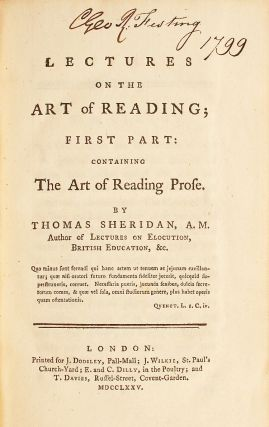 Lectures on the art of reading [Parts I & II]