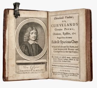 Clievelandi Vindiciæ; or, Clieveland's genuine poems, orations, epistles, &c. Purged from the...