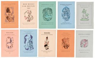 The Poetry Quartos, Twelve brochures each containing a new poem by an American poet comprising: ...