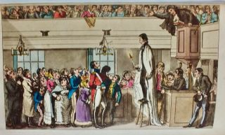 """[Scottish Satire] Trial of the Rev. Alexander Fletcher, A.M. before the Lord Chief Justice of the Court of Common Sense, and A Special Jury. By the Author of The """"Trial of the Rev. Edward Irving, A. M."""" [Hand-Colored]"""