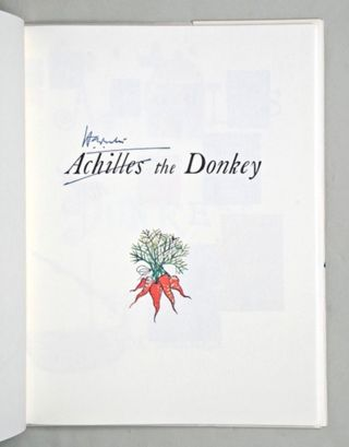 Achilles the Donkey; [together with] Achilles and Diana; [and with] Achilles and the Twins [All Signed]
