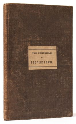 The Chronicles of Cooperstown. James Fenimore COOPER