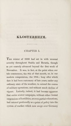 Klosterheim. Or, The Masque. By the English Opium-Eater.