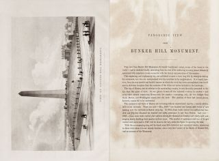 [American Revolution] Plans and Sections of the Obelisk on Bunker's Hill, with the Details of Experiments Made in Quarrying the Granite Stone; [offered with:] A Panoramic View from Bunker Hill Monument