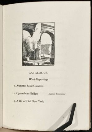 Catalogue of an Exhibition of Wood-Engravings, Etchings and Drawings, November 28 to December 10, 1921