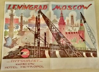 Russia] Great Cities of the USSR [Moscow and Leningrad]. INTOURIST